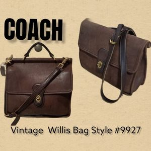 Coach Vintage brown leather Willis Bag Style #9927